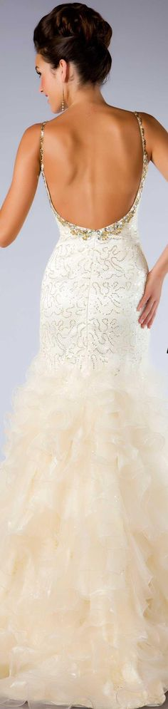 Mac Duggal couture dress ivory / gold  #josephine#vogel