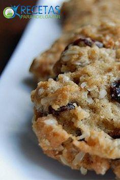 ¡Deliciosas galletas de avena súper #Light! Protein Cookies, Healthy Cookies, Healthy Desserts, Easy Desserts, Healthy Recipes, Cookie Recipes, Dessert Recipes, All Bran, Muffins