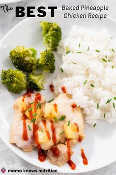 Recipe for the best baked pineapple chicken using boneless skinless chicken thighs. Great kid-friendly quick weeknight meal option that is hands-off and bakes in just 20 minutes! It's healthy, too! #easyrecipes #healthydinnerideas Baked Pineapple Chicken, Baked Chicken, Baby Food Recipes, Easy Dinner Recipes, Quick Weeknight Meals, Healthy Meals For Kids, Other Recipes, Food To Make, Cooking