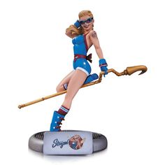 It's The DC Comics Bombshells Statue - Stargirl. Designed By Ant Lucia; Sculpted By Tim Miller The line of striking stylized statues of the most popular female heroes and villains of the DC Universe m