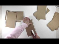 Hello everyone, here is part 2 in the Vertical Paper Bag Mini Album Series. In this video we will create the binding mechanism for our mini album. Binding me. Paper Bag Books, Paper Bag Crafts, Paper Bag Album, Scrapbook Paper Crafts, Paper Bags, Mini Albums, Mini Photo Albums, Ideas Paso A Paso, Mini Album Tutorial