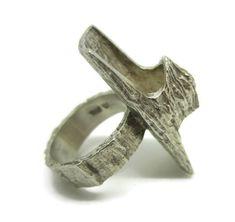 Modernist Brutalist Anton Michelsen Knud V. Andersen Silver Bark Ring Denmark 1970s by torsgatan on Etsy https://www.etsy.com/uk/listing/231401654/modernist-brutalist-anton-michelsen-knud