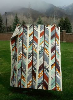 This kind of quilt modern is genuinely a remarkable design approach. Man Quilt, Boy Quilts, Scrappy Quilts, Arrow Quilt, Braid Quilt, Herringbone Quilt, String Quilts, Quilt Tutorials, Quilting Projects