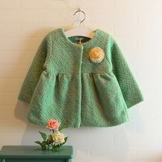 Western style clothing 2014 new winter coat jacket girls children's dolls to send money in the long coat corsage - Taobao