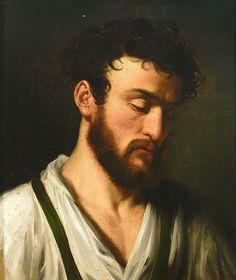 Marie Ellenrieder Portrait eines bärtigen jungen Mannes.jpg