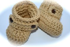 Baby boy baby girl crochet cotton boots shoes by tweetotshop.