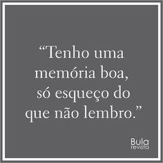 Tenho uma memória boa
