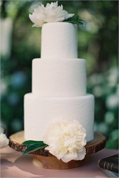 white wedding cake from A Spoonful of Sugar