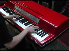 Wurlitzer 200A Electric Piano Restoration with Custom Red Top