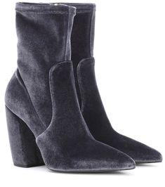 Velvet Ankle Boots - Prada | mytheresa