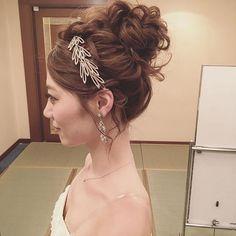 やっぱりお団子人気☺️ #花嫁  #ブライダルヘアメイク #プレ花嫁 #ウェディングドレス