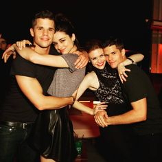 Teen Wolf ... Charlie Carver, Crystal Reed, Holland Roden and Max Carver as Ethan, Allison, Lydia and Aiden