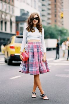 Love the skirt pattern with the crop top. Vanessa Jackman: New York Fashion Week SS 2015....Eleonora