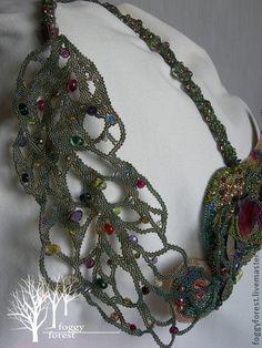 """Necklace, handmade beads. Fair Masters - handmade Necklace """"Victorian Garden"""" -   Колье, бусы ручной работы. Ярмарка Мастеров - ручная работа Колье """"Викторианский сад"""". Handmade."""