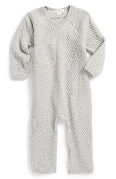 BURT'S+BEES+BABY+Organic+Cotton+Quilted+Kimono+Romper+(Baby)+available+at+#Nordstrom