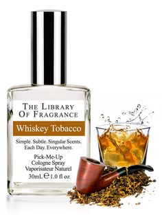 Whiskey Tobacco Cologne – Extraordinary scent & perfume from The Library of Fragrance – The Library of Fragrance