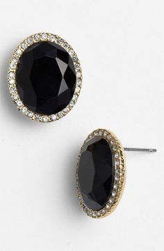 Love these black + gold earrings!