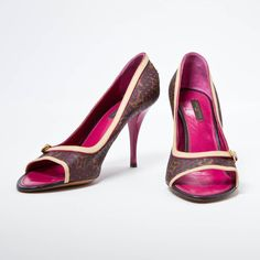 LOUIS VUITTON Brown Leather Heels
