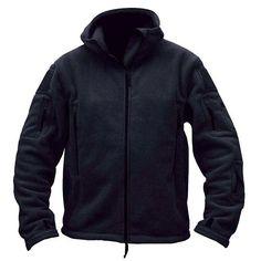 Winter Fleece Jacket Men Army Polartec Sportswear Clothes Warm Pockets Outerwear Casual Hoodie Coat Jacket