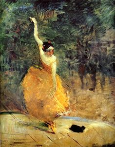Henri de Toulouse-Lautrec Died at 36 from syphillis. French painter and illustrator and was a Post Impressionist and Art Nouveau artist. The Spanish Dancer, oil on canvas Henri De Toulouse Lautrec, Edgar Degas, Spanish Dancer, Paul Cezanne, Art Moderne, Dance Art, Renoir, Henri Matisse, Claude Monet