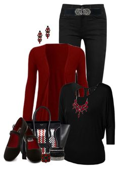"""Jeans and a Cardigan"" by wendyfer ❤ liked on Polyvore"