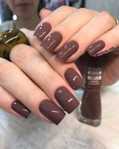 30 ideas which nail polish to choose - My Nails Brown Acrylic Nails, Brown Nail Polish, Brown Nails, Nail Polish Colors, Sexy Nails, Glam Nails, Beauty Nails, Cute Nails, Elegant Nails