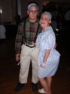 Homemade Old Couple Halloween Costume Idea We simply took an old shirt out of his fatheru0027s closet and used it with a pair of khaki pants very rolled up to ...  sc 1 st  Pinterest & Granny costume - donu0027t buy when you can make it yourself! We can ...