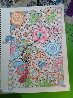 Zentangle - Doodles (Tangletime website) - Color