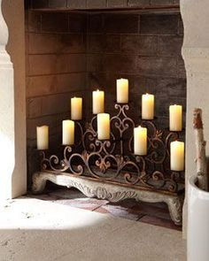 Fireplace Candles Candle Holder Wood Screens Fireplaces House