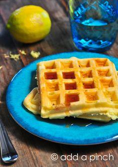 Lemon Buttermilk Waffles