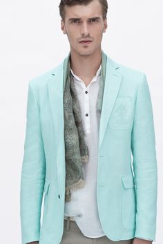 Zara Men June/2012 lookbook  Oh minty mint, you're having quite a year!
