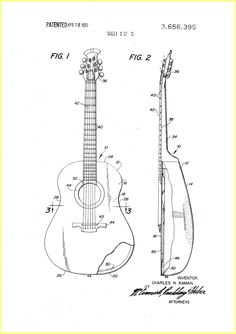 Ovation Guitar Construction 1970 Patent