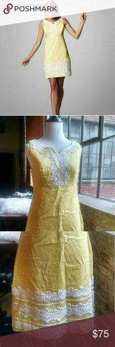 Lilly Pulitzer Lace Embroidered Shift, 4 This dress is a great spring dress. Would make a great Easter dress. Also great for a shower, church, or brunch.  Blue mark on inside of dress near zipper (not visible on outside). Lilly Pulitzer Dresses