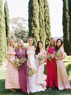 Molly & Andy — Bash Please Wedding Pics, Wedding Bells, Wedding Gowns, Dream Wedding, Wedding Day, Italy Wedding, Mismatched Bridesmaid Dresses, Bridesmaid Flowers, Bridesmaids