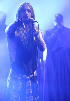 Jared on the Jimmy Fallon show Aug 20, 2014 singing End of All Days......  <3 <3