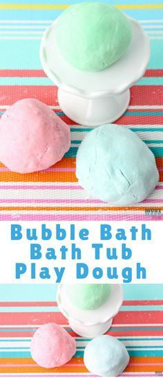Lush Fun copycat recipe for bath tub playdough! Bubble bath play dough can be used in the tub and disappears when mixed with water.