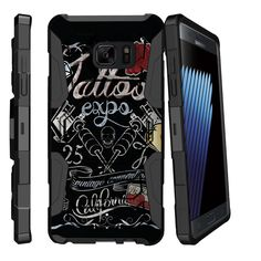 Galaxy Note 7 Case ARMOR RELOADED, Heavy Duty Kickstand Holster Clip - Tattoo Expo