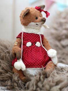 Купить Лисичка Амей - рыжий, красный в горошек, лиса, лисичка, авторская игрушка, авторская работа