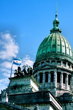 Argentina's Congressional Palace in Buenos Aires Places Around The World, Oh The Places You'll Go, Travel Around The World, Places To Travel, Around The Worlds, Beautiful World, Beautiful Places, Drake Passage, South Of The Border