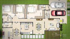 10 projetos de casas terrenas