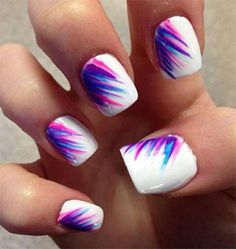 twelve Amazing Summer Blue Nail Art Patterns, Tips, Trends & Stickers 2015 | Nail Design