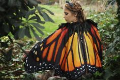 Monarch Butterfly Fairy Kaap camoufleren oranje door CostureroReal