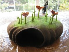 Felted Cat Bed / Cat Cave Pattern. Instant PDF by FeltingTutorials