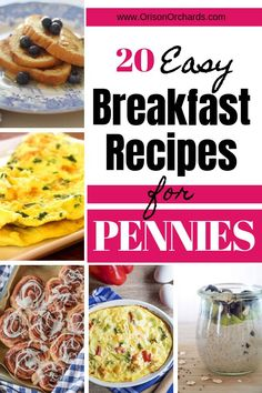 Looking for some easy breakfast recipes to make your busy mornings easier? Wouldn't it be great if those recipes were also incredibly budget friendly? recipes easy recipes easy recipes easy recipes easy easy appetizers easy on a budget Frugal Meals, Budget Meals, Easy Meals, Budget Recipes, Inexpensive Meals, Freezer Meals, College Recipes, Budget Breakfasts, Rice Meals