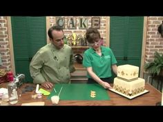 Free full length video.  Fleur De Lis Cake Tutorial. With Sharon Zambito and Dominic Palazzolo