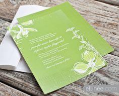 Enchanted Garden wedding invitation