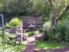kint Outdoor Living Areas, Backyard Landscaping, Stepping Stones, Brick, House Design, Landscape, Outdoor Decor, Home Decor, Bar