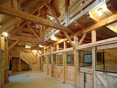 Interior View: Concord Horse Barn- very open, well lit and inviting.