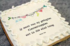 Gedagte koekie, Afrikaans, edible images