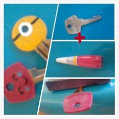 Ideia mega criativa para identificar as chaves e não perder horas tentando adivinhar qual é a certa. Quem nunca?!